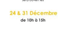 Ouverture de votre Spadium le 24 et 31 Décembre !