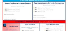 Contrat d'adhésion natation + Mandat SEPA 2021/2022